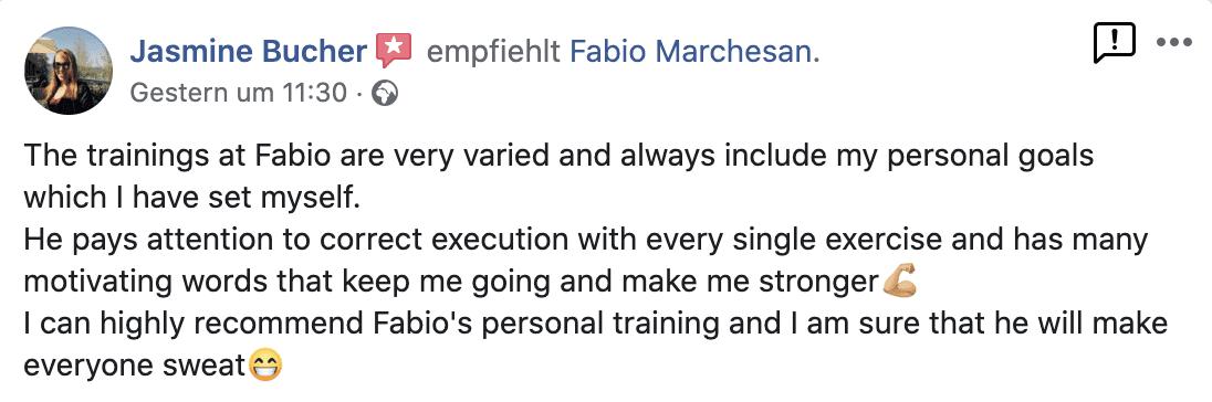 Testimonial Fabio Marchesan