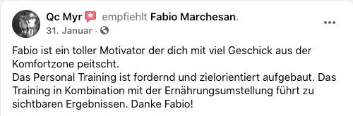 Facebookbewertung Fabio Marchesan
